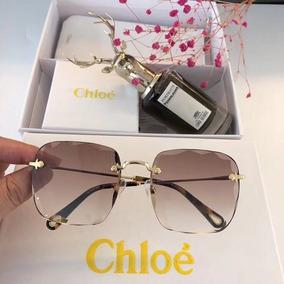 cde02572a4526 Oculos De Sol Chloe Carlina Quadrado - Óculos no Mercado Livre Brasil