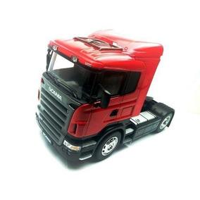 Cavalo Miniatura Caminhao Scania V8 R730 -1:32 Welly Red