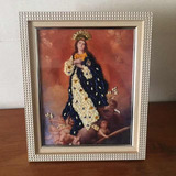 Hermosa Virgen Bordada A Mano.