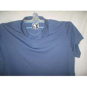 Camiseta Azul Tipo Polo Talla 6 X Reebook 19077b2743268