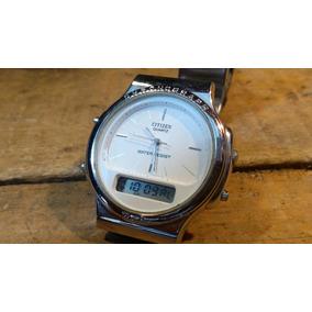 Reloj Citizen Dual Time Análogo Digital Años 90 Vintaje