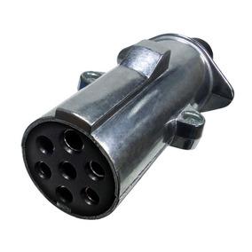 Tomada De Engate Móvel Alumínio Reforçado 7 Polos - Dni 8323