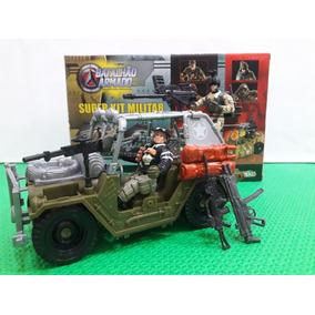 Boneco Militar Tipo Comandos Em Ação Sos Gi Joe Jipe Jeep