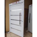 Porta Pivotante De Aluminio Branco 210x120 Linha 30 Completa