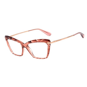 03787bc19022e Armação Óculos Grau Feminino Gatinho Dg5025 Diamante Rosa