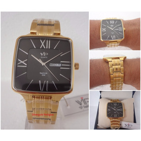 Relógio Masculino Vip Saphilite Mh 6327 Quadrado Original