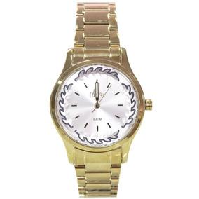 Kit Relógio Feminino Allora Al2036cn/k4c Dourado