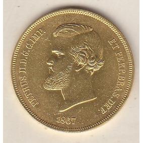 Moeda De Ouro 20.000 Réis 1867 Sob 17,92 Gr 30 Mm R$ 4.200,0