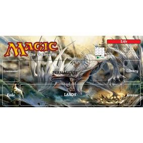 Playmat Magic The Gathering Card Rpg Lona Mtg Dragão Branco
