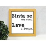 Placas Decorativas Cozinha Sujou Lavou No Mercado Livre Brasil