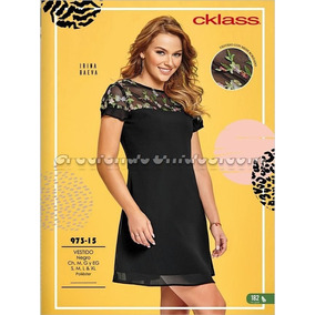 Vestido Cklass Negro 973-15. Outlet/saldos Mchn