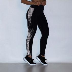 Legging Refletiva Poliamida Black Lg703