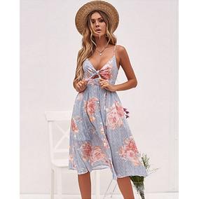 cd1c8f685 Ropa Mujer Sexy Vestido Corto Estampado Floral Con Tirantes