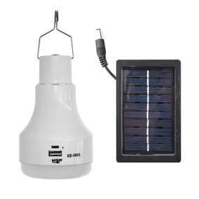 Foco Led Solar Recargable Portatil Camping Blanco 5w 3885 /e