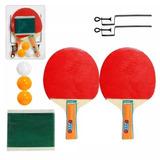 Kit Ping Pong Tênis De Mesa Raquetes Rede Bolinhas Completo