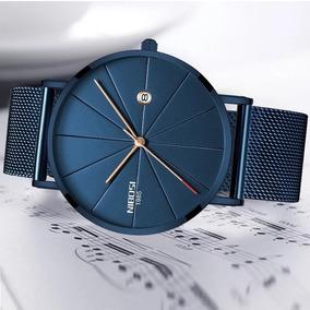 Promoção Nibosi Relógio Elegante De Aço Inoxídavel Masculino