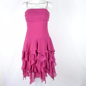 Hollywood Vestido Midi Fucsia 4 Msrp $1,199