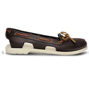 Zapato Crocs Dama Beach Line Boat Shoe Cafe