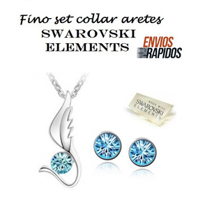 Aretes Collar Swarovski Element *ultimas Piezas*