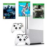Xbox One Slim 1tb 2 Controles, Fifa 19, Nfs Y Call Of Duty
