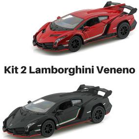 Promoção 2 Carrinho De Coleção Lamborghini Veneno Metal!!