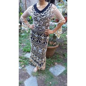 2447a9e949 Vestidos De Playa Tejidos Crochet Largos Mujer - Vestidos en Mercado ...