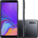 Celular Samsung Galaxy A7 128gb/4gb 2018 Preto Capa+pelicula