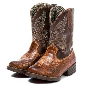 Bota Country Texana Infantil Masculina Menino Couro Legitimo ee361b36f25
