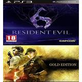 Reident Evil 5 Gold + Resident Evil 6 Ps3 Digital (no Disco)
