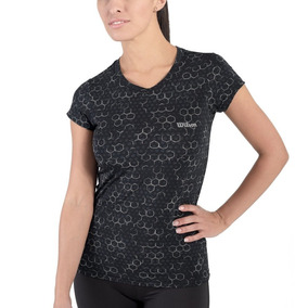 Playera Strong Fit Negra Wilson Talla Chica S