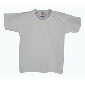 92e709e5b7bb8 Camiseta Branca Escolar Infantil - Camisetas e Blusas no Mercado ...
