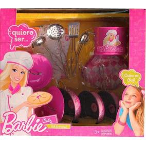 Jgo De Bateria Cocina De Metal C Accesorios Barbie