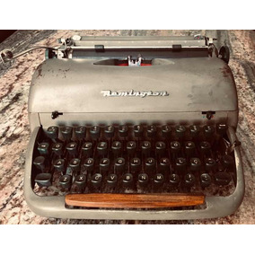 Máquina De Escrever Remington Rand Antiga Quiet-riter Anos50