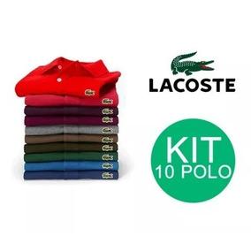 Frete Grátis Kit 10 Camisas Polo Lacoste Masc Plus Size 9da27e716a5e7