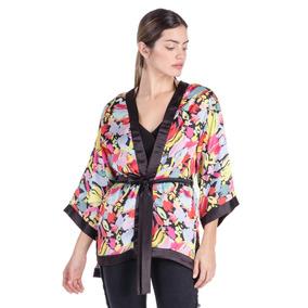 Kimono Mujer Pansies Delaostia