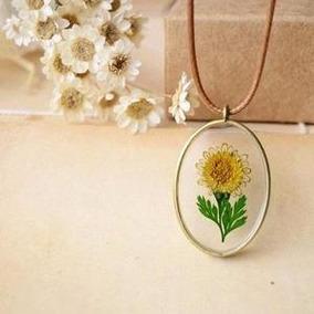 Dije Sunflower Cristal Suerte Amistad Girasol Floral Joyeria