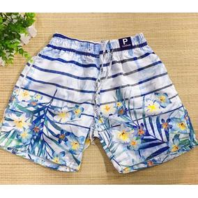 2b3328007c655 Short Praia Masculino Bermuda Tactel Desenhos Moda Top