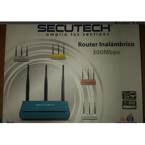 Router Secutech 3 Antenas Nuevo