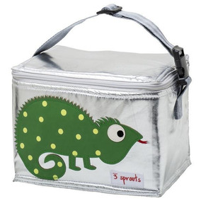 Lunch Bag 3 Sprouts Iguana Verde
