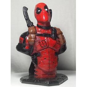 Deadpool Busto. Impresso Em 3d, Pintado A Mão
