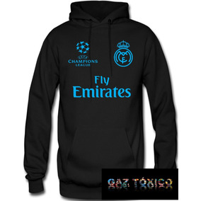 Sudadera Real Madrid Champions League Hoodie Capucha a3374afb2687f