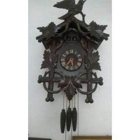 Reloj Antiguo Cu Cu Carrillon De Tres Pesas Y Dos Pájaros