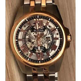 065c97f36fd Relógio Bulova Automatico Skeleton Fundo Transparente 21 Rub ...