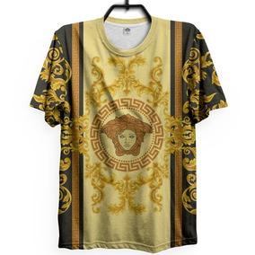 Camiseta Unissex Versace Medusa Gold Swag Trap Bruno Mars 05f78e8b16c