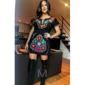 ff594dea682 Vestido Mexicano Bordado Artesanal (kimono)