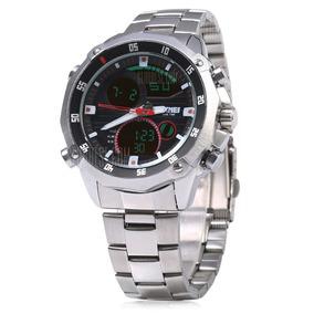 Relógio Quartz Com Tela Digital E Calendario - Skmey 1146