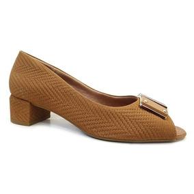 638ce042b Sapato Peep Toe Conforto Y7002 - Usaflex (19) - Camel