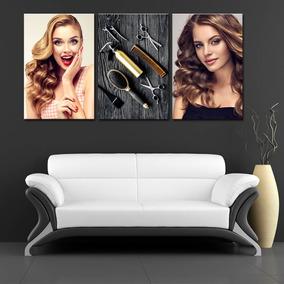 Quadro 60x120cm Salão Beleza Cabeleireiro Decorativo Hair