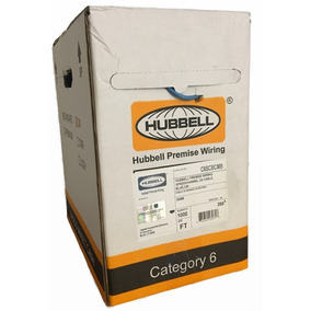 Cable Utp Hubbell Cat 6 Azul Metros 305 Bobina Certificado