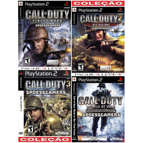 Call Of Duty Ps2 Coleção (4 Dvds) Patch - Leve 4 Pague 3